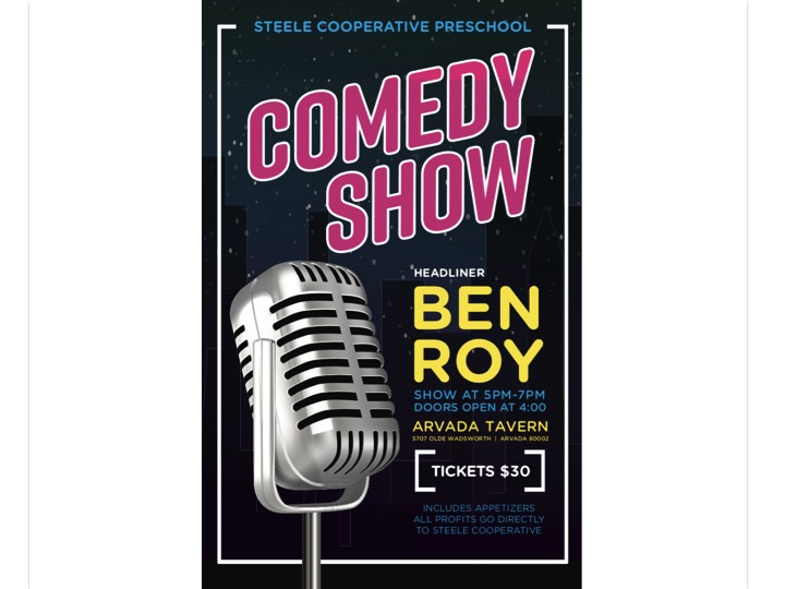 Steele Comedy Show | Ben Roy | October 12th
